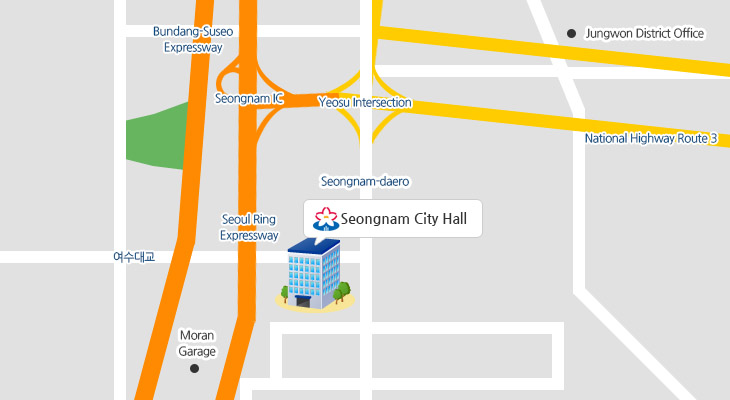 Seongnam City Location Map